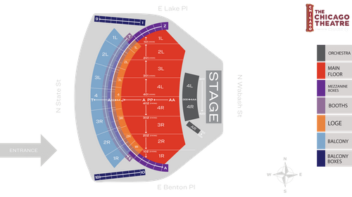 The Chicago Theatre Seat Map Msg Official Site