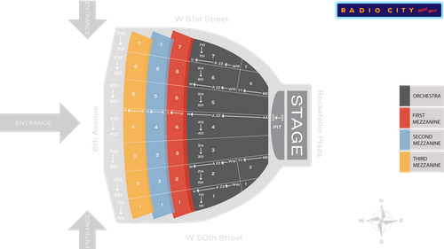 Radio City Music Hall Seat Map Msg Official Site