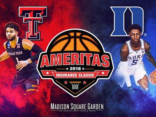 Duke Vs Texas Tech Tickets Madison Square Garden 12 20 18