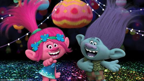 Glitter Troll Background Images